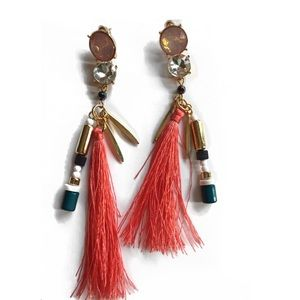 Jewelry - Coral Tassel Earrings